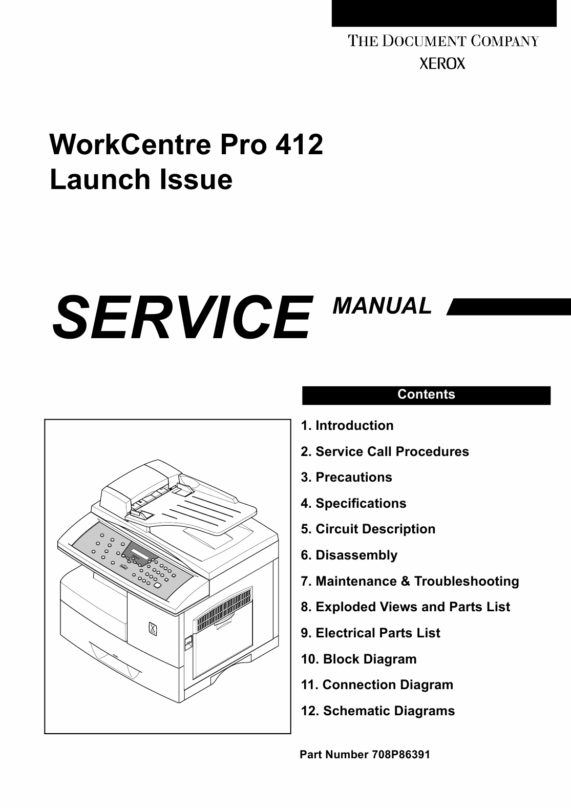 Xerox WorkCentre Pro-412 Parts List and Service Manual-1